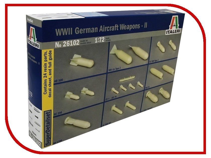 Сборная модель Italeri Набор бомб WWII German Aircraft Weapons-II 26102 10pcs women nail print template nail decoration stainless steel diy manicure printing 3d nail art stickers 6cm 12cm nail art
