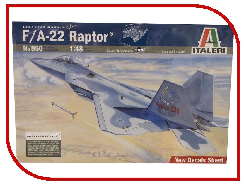 Сборная модель Italeri Самолет F-22 Raptor 0850
