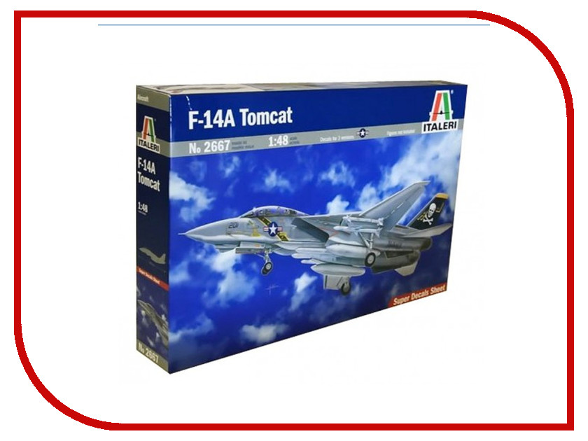 Сборная модель Italeri Самолет F-14 A Tomcat 2667