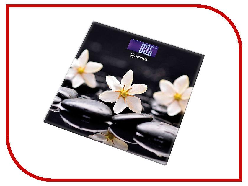 Весы напольные Hottek Цветы на черном HT-962-012