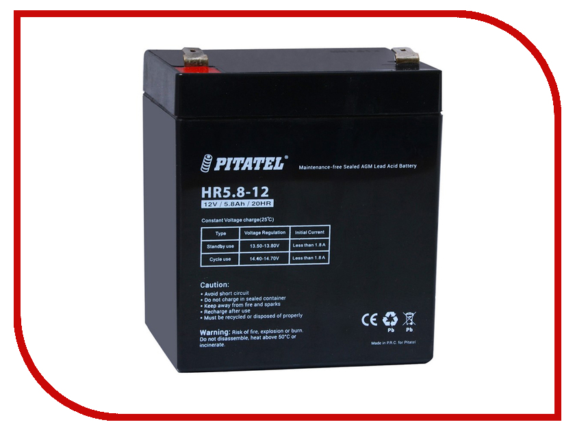 Аккумулятор для ИБП Pitatel HR5.8-12 12V 5.8Ah