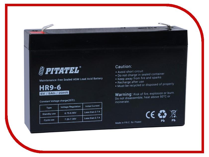 Аккумулятор для ИБП Pitatel HR9-6 6V 9Ah crown cbt 12 9 2 аккумулятор для ибп