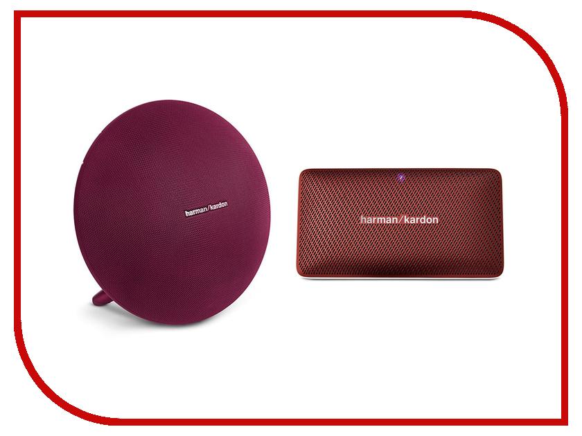 беспроводная акустика harman kardon esquire 2 золотистый Колонка Harman Kardon Onyx Studio 3 Red + Esquire Mini ONYXSTUDIO3REDSET