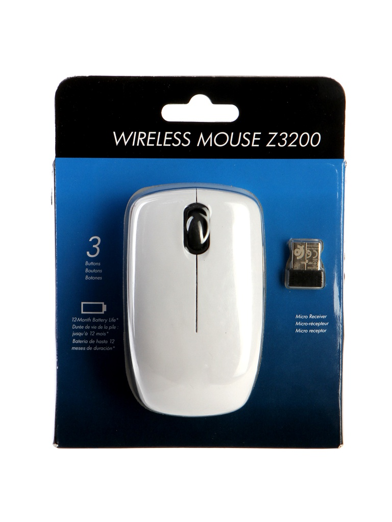 Мышь HP Z3200 Wireless USB White E5J19AA