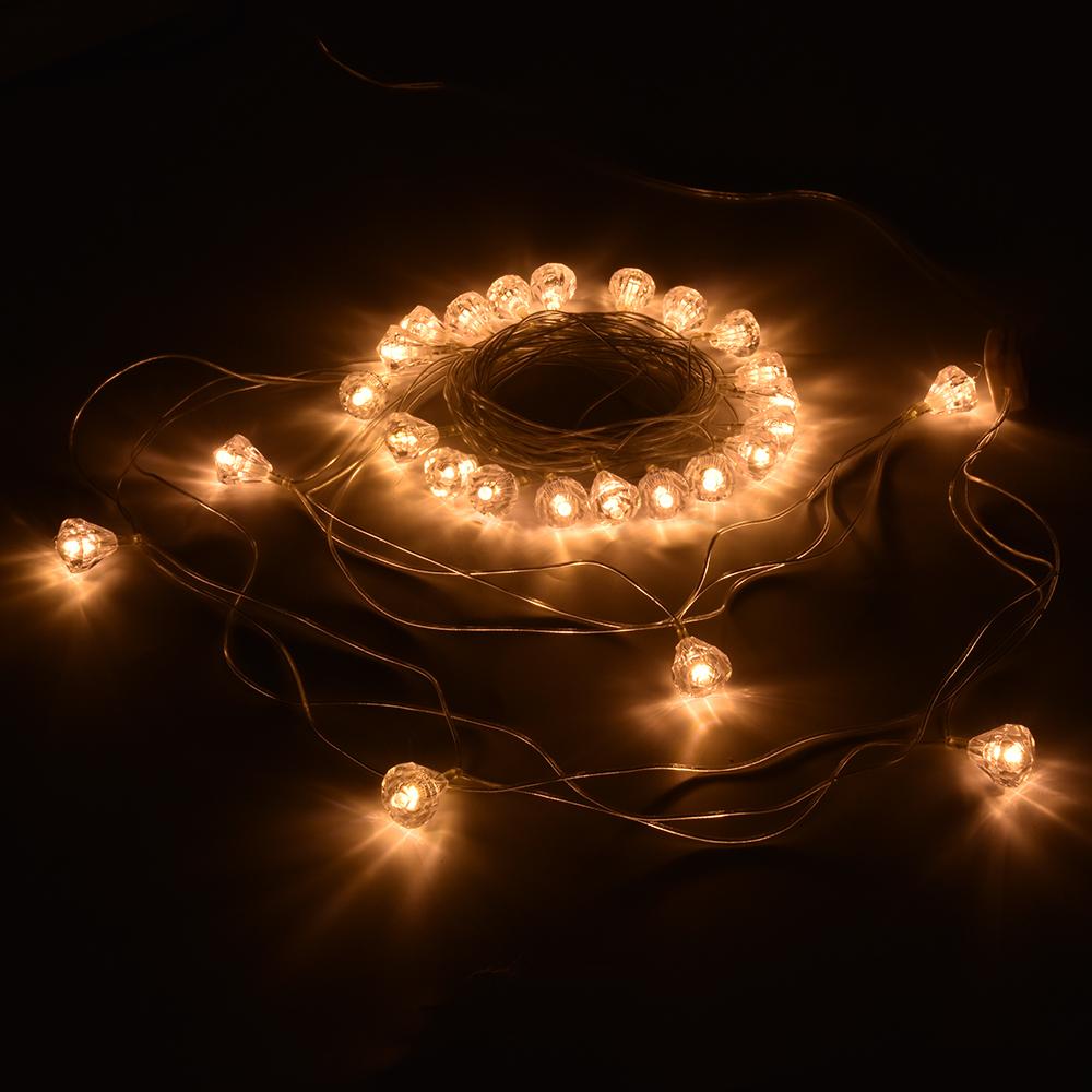 Гирлянда Vegas Бриллианты 25 теплых светодиодов 5m 55083