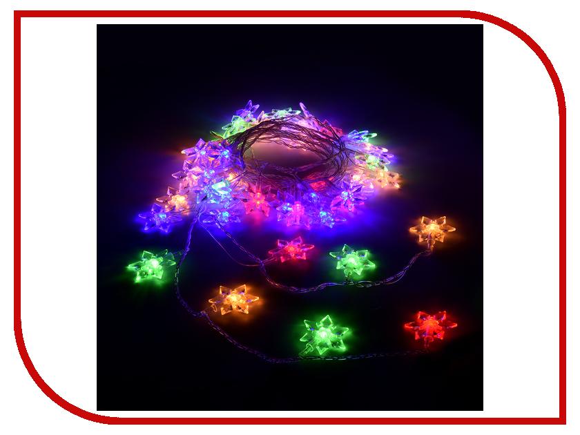 Гирлянда Vegas Цветочки 80 светодиодов 10m Mix 55084 vegas душевая дверь vegas ep 70 профиль матовый хром стекло зебра