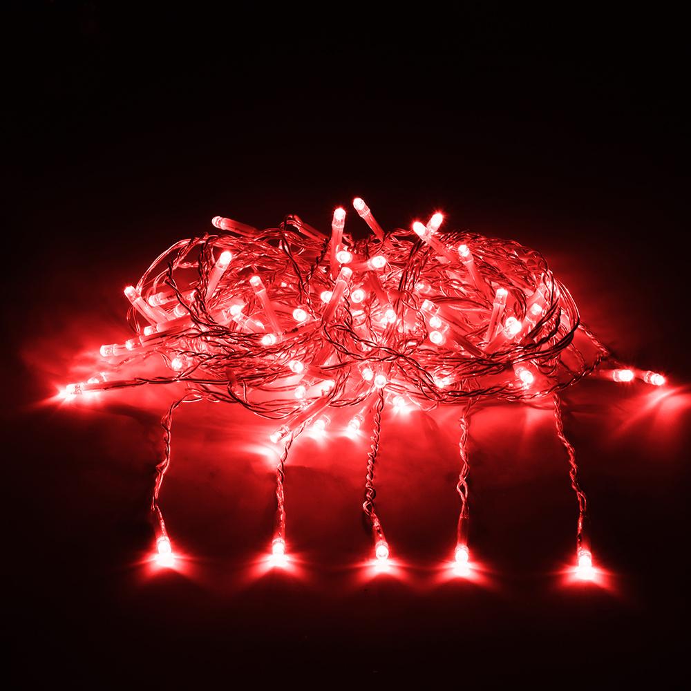 цена на Гирлянда Vegas Занавес 192 светодиода 1x4m Red 55027