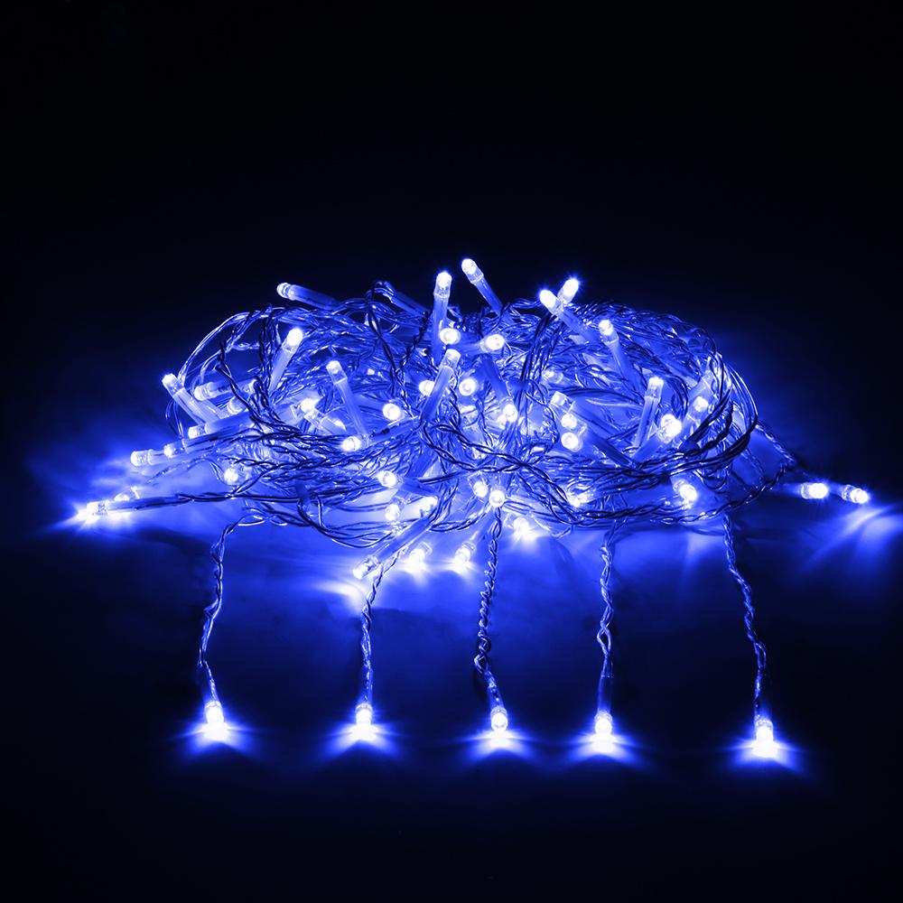 Гирлянда Vegas Занавес 192 светодиодов 1x4m Blue 55026