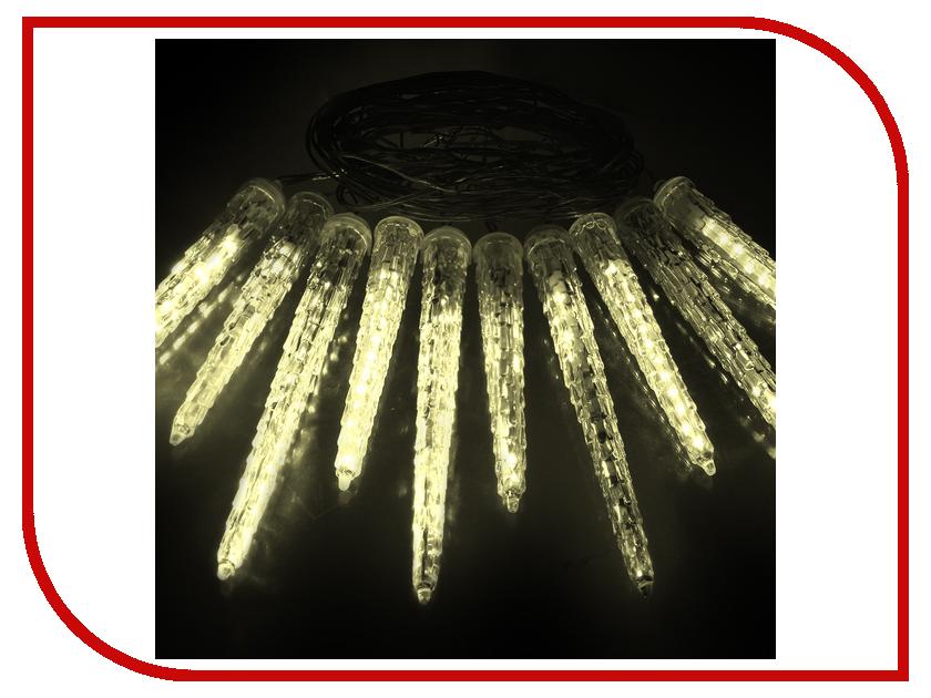 Гирлянда Vegas Сосульки 10шт 40 теплых светодиодов 2m 55036 vegas душевая дверь vegas ep 70 профиль матовый хром стекло зебра