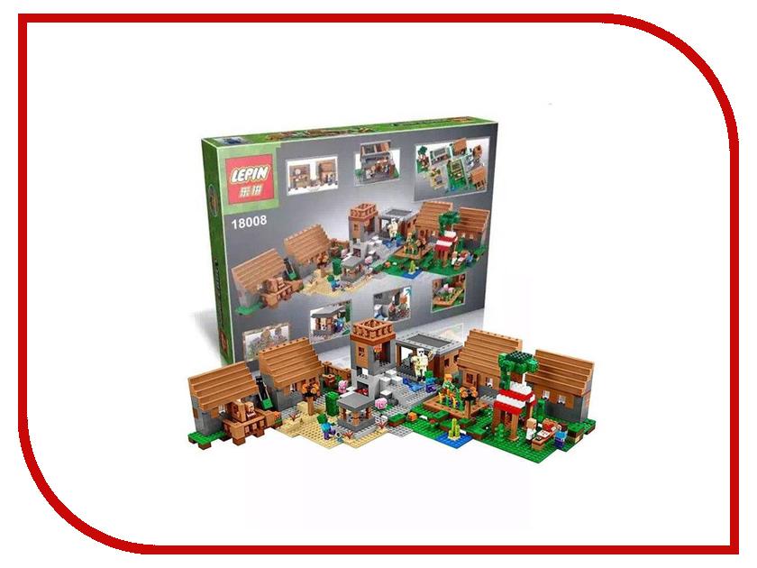 Конструктор Lepin Minecraft Большая Деревня 1600 дет. 18008 конструктор деревня
