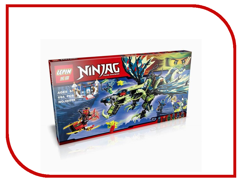 Конструктор Lepin Ninjago Атака Дракона Морро 694 дет. 06018 спортивный магазин атака
