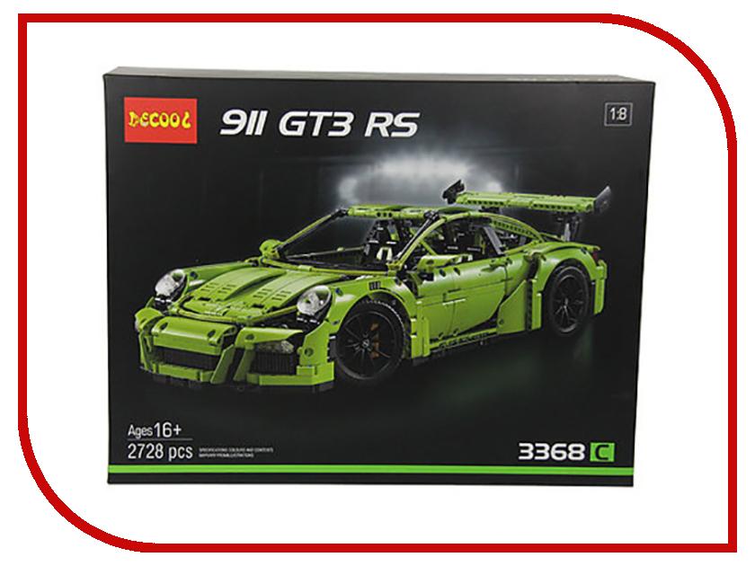 Конструктор Decool Technic Porsche 911 GT3 RS Green 3368 schwartz 911 домкрат