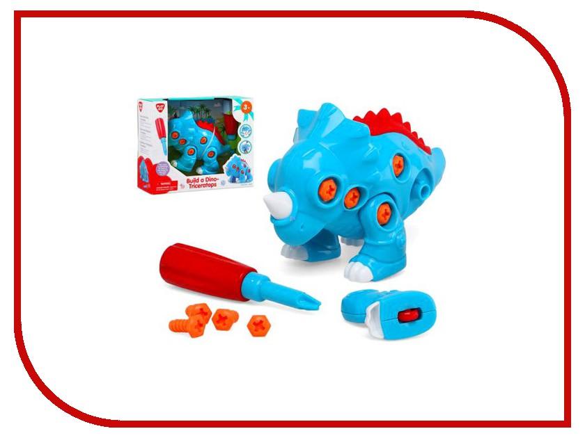Конструктор PlayGo Построй динозавра Play 2044 автотрек playgo полицейский участок play 2002