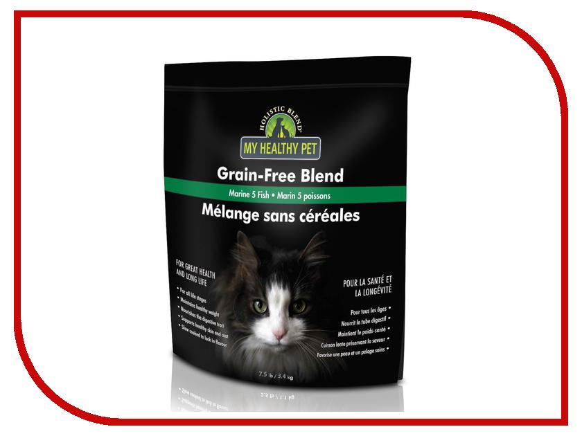 Корм Holistic Blend 5 морских рыб, беззерновой 3.4kg для кошек 5-91115 корм pronature holistic утка с апельсином 2 72kg для кошек 102 2021