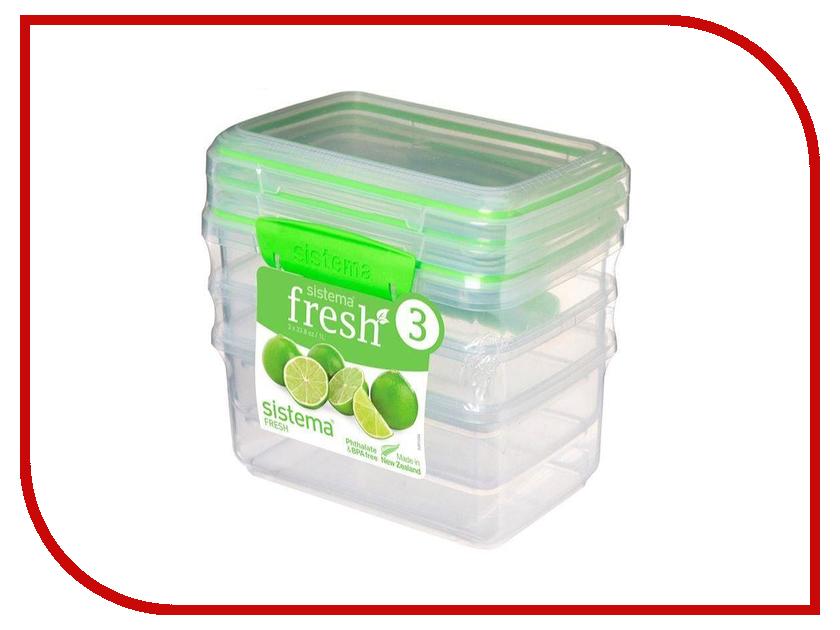 Набор контейнеров Sistema Fresh 1L 3шт 951613 набор контейнеров для еды curver набор контейнеров fresh