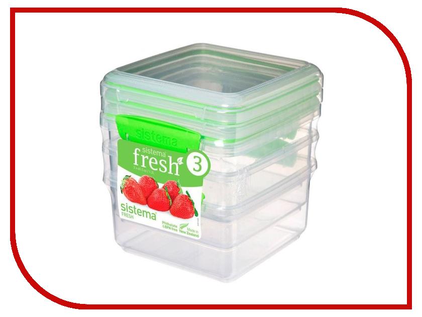 Набор контейнеров Sistema Fresh 1.2L 3шт 951630 набор контейнеров для еды curver набор контейнеров fresh