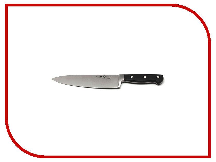 Нож Atlantis 24102-SK - длина лезвия 200мм нож кухонный supra sk tk17st black