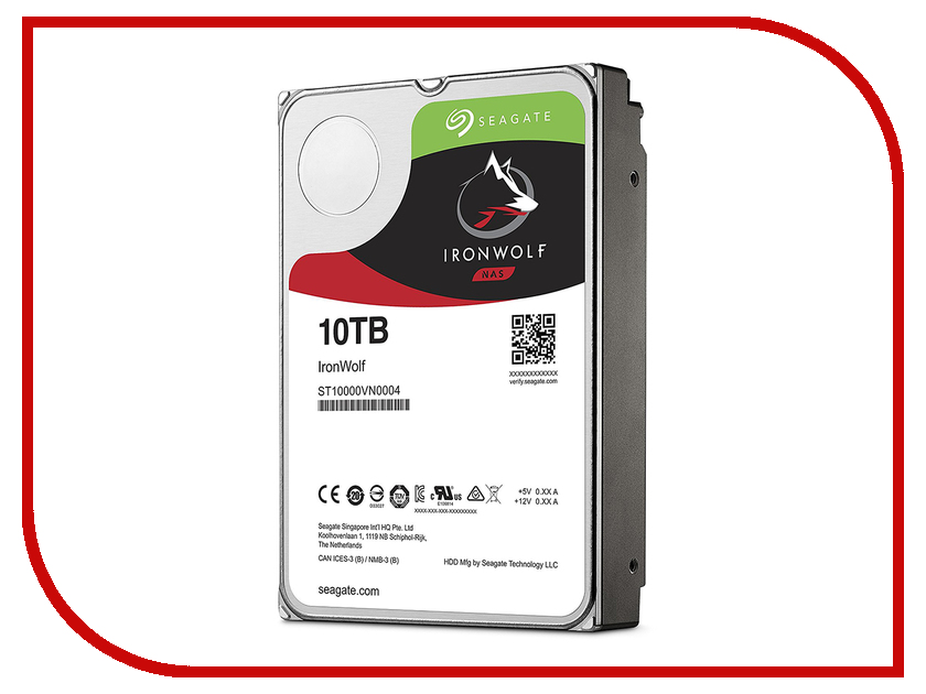 Жесткий диск 10Tb - Seagate IronWolf ST10000VN0004 насос oasis vn 0 42 60 10м