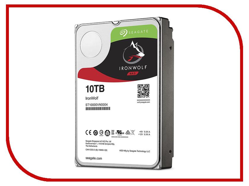 Жесткий диск 10Tb - Seagate IronWolf ST10000VN0004 жесткий диск 10tb seagate ironwolf pro st10000ne0004