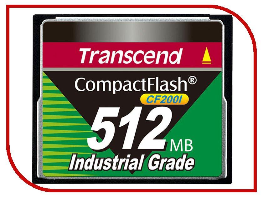 Transcend Карта памяти 512Mb - Transcend 200x Industrial Grade - Compact Flash TS512MCF200I