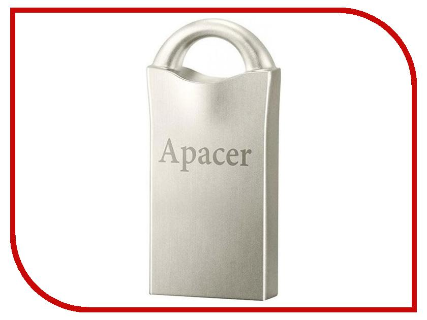 USB Flash Drive 64Gb - Apacer AH117 USB 2.0 Silver AP64GAH117S-1 usb накопитель apacer ah117 16gb silver rp ap16gah117s 1