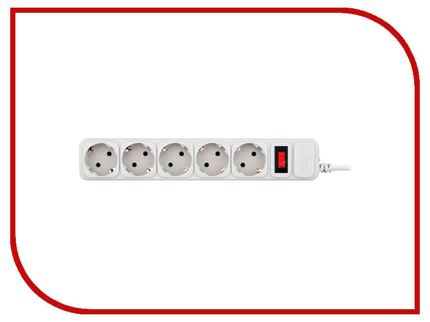 Сетевой фильтр CBR 5 Sockets 1.8m CSF 2500-1.8 White CB