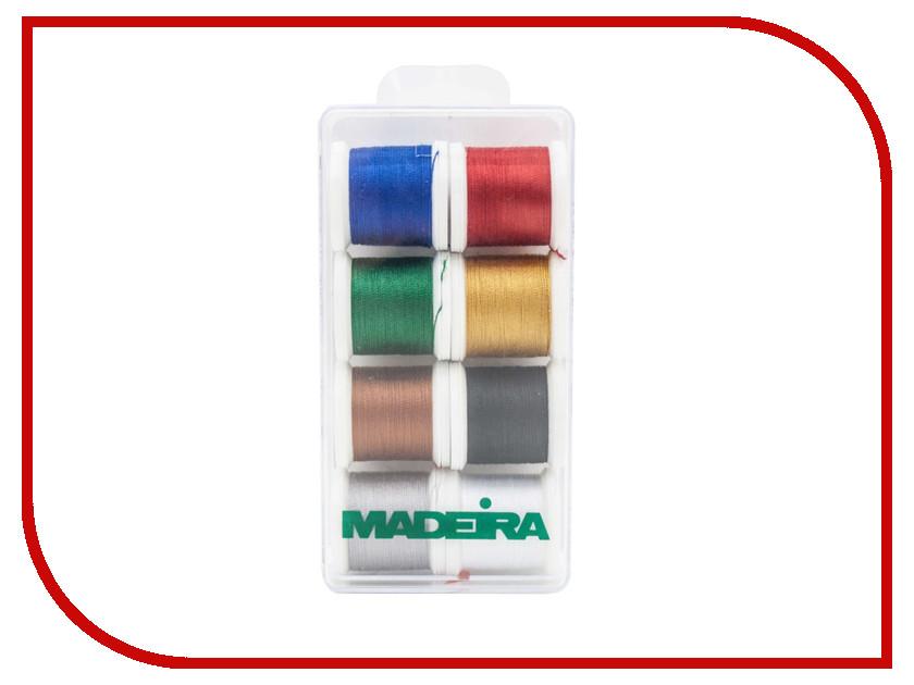Набор ниток для швейных машин Madeira Aerofil №35 8016 402 полиэстер швейных ниток шнуры для ткани или поделок судов зелено жёлтые 0 1 мм около 120 м рулон 10 рулонов мешок