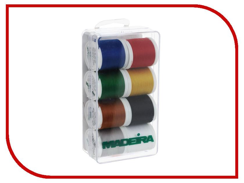 Набор ниток для швейных машин Madeira Aerofil №120 8017 402 полиэстер швейных ниток шнуры для ткани или поделок судов зелено жёлтые 0 1 мм около 120 м рулон 10 рулонов мешок