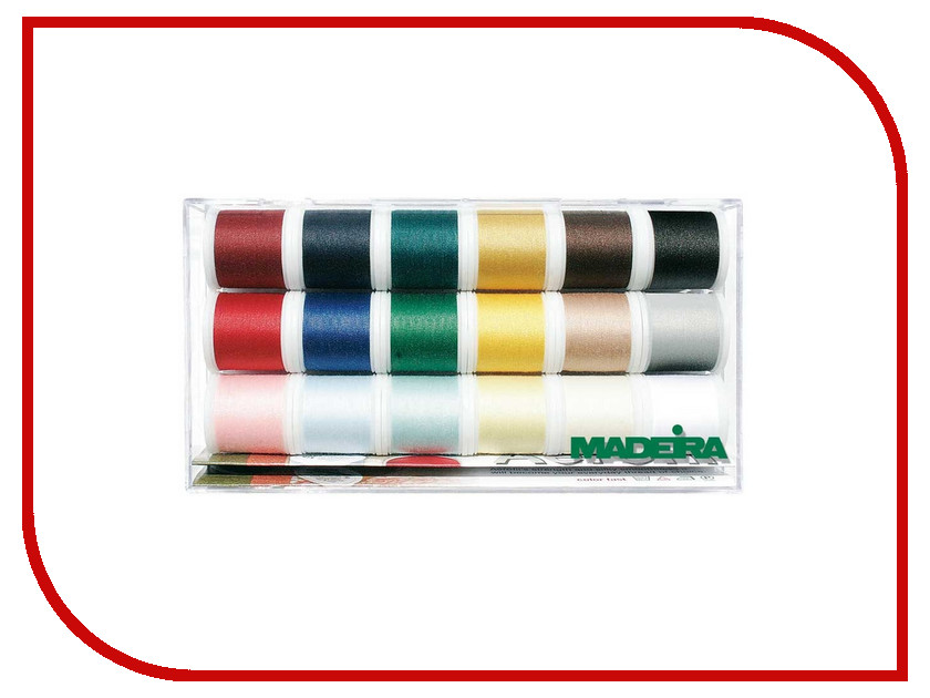 Набор ниток для швейных машин Madeira Aerofil №120 8041 402 полиэстер швейных ниток шнуры для ткани или поделок судов зелено жёлтые 0 1 мм около 120 м рулон 10 рулонов мешок