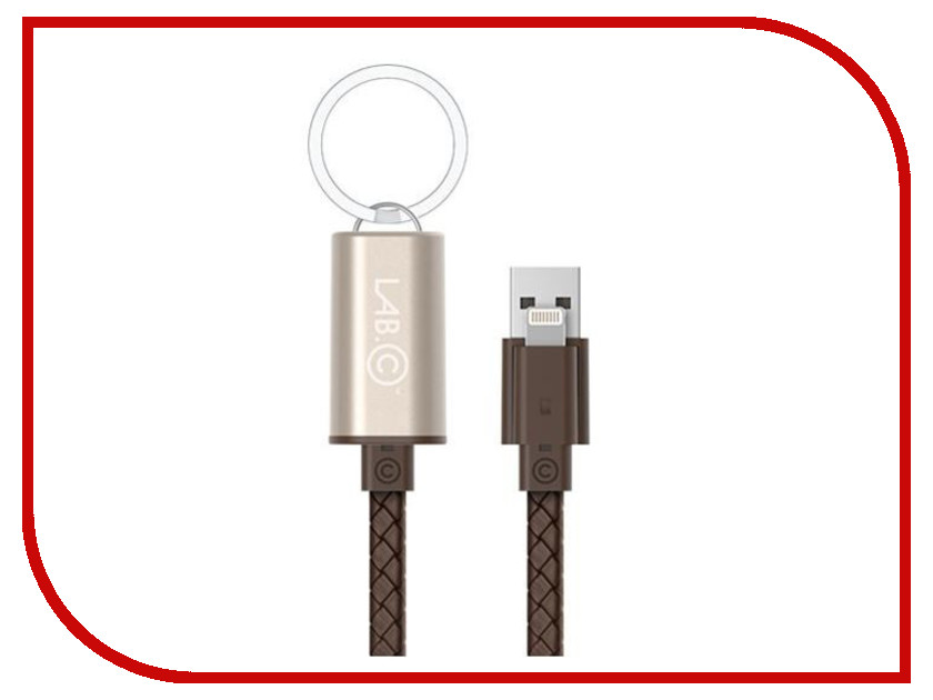 Аксессуар LAB.C USB - Lightning 25cm Gold-Brown LABC-504-GD аксессуар pineng pn 305 usb lightning gold
