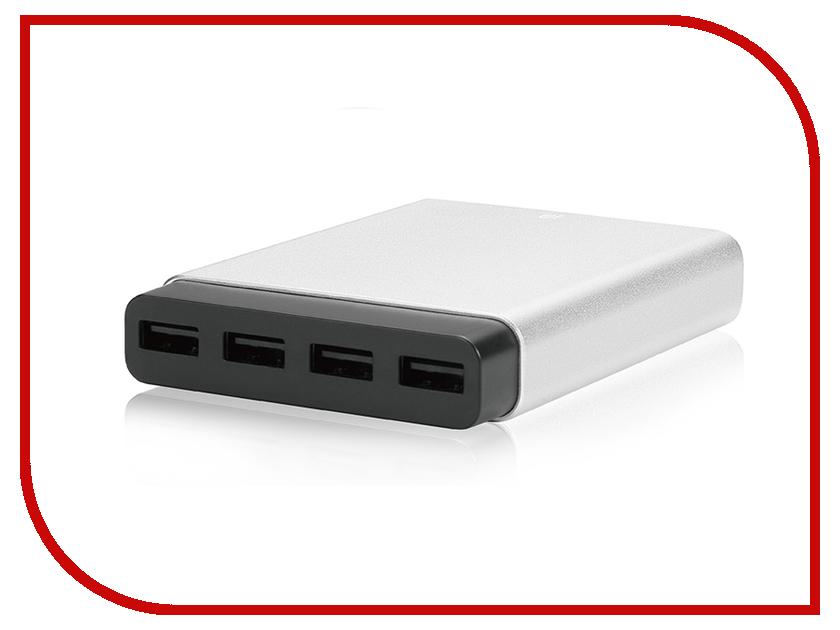 Зарядное устройство Just Mobile 4xUSB Silver PA-188EU зарядное устройство aukey 4xusb cc t9