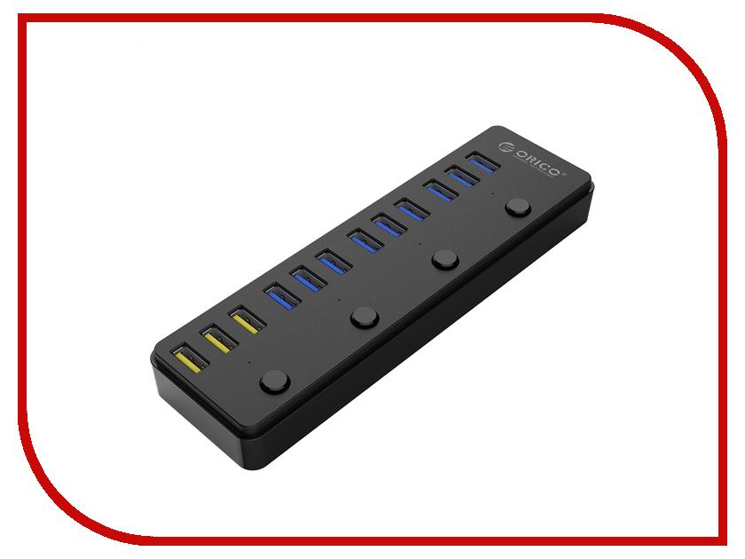 Хаб USB Orico P12-U3-BK Black цена