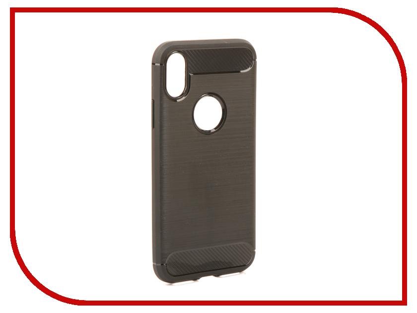 Аксессуар Чехол Activ The Ultimate Experience Carbon для APPLE iPhone X Black 75611 аксессуар защитное стекло activ 3d gold для apple iphone 7 69556