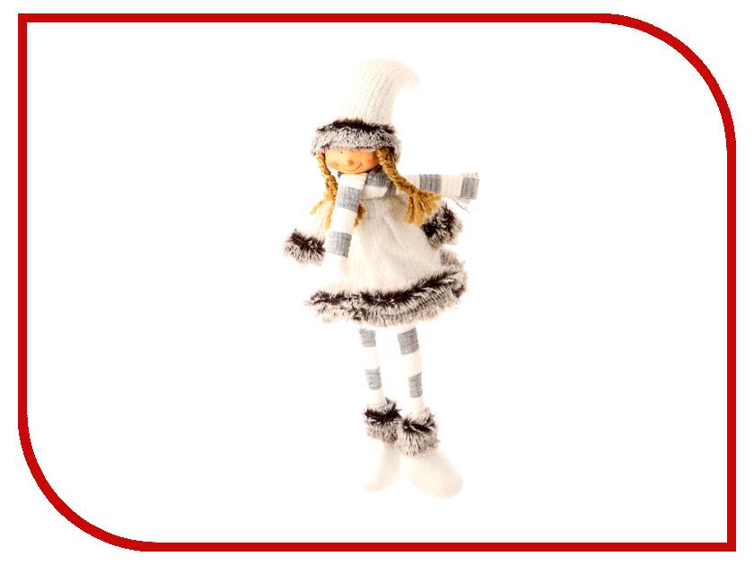 Украшение СИМА-ЛЕНД Девочка в белом платье и полосатом шарфике 2315152 сима ленд сувениры и подарки оптом
