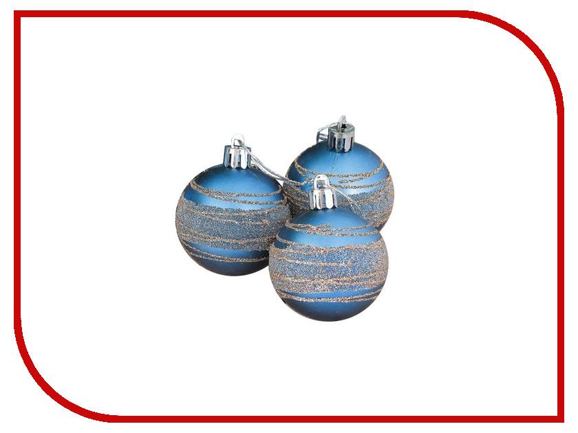 Украшение СИМА-ЛЕНД Набор шаров Синий блюз 6шт 2356960 набор шаров выпуклые стекло 6шт 80мм сапфировый