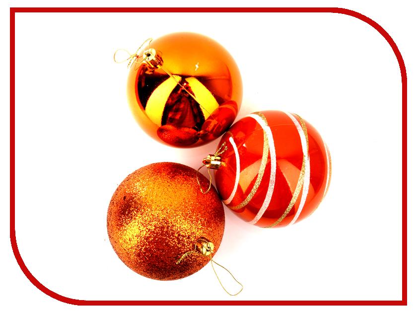 Украшение СИМА-ЛЕНД Набор шаров Орион 6шт Orange 2178443 украшение сима ленд набор шаров перо жар птицы 4шт 2356992