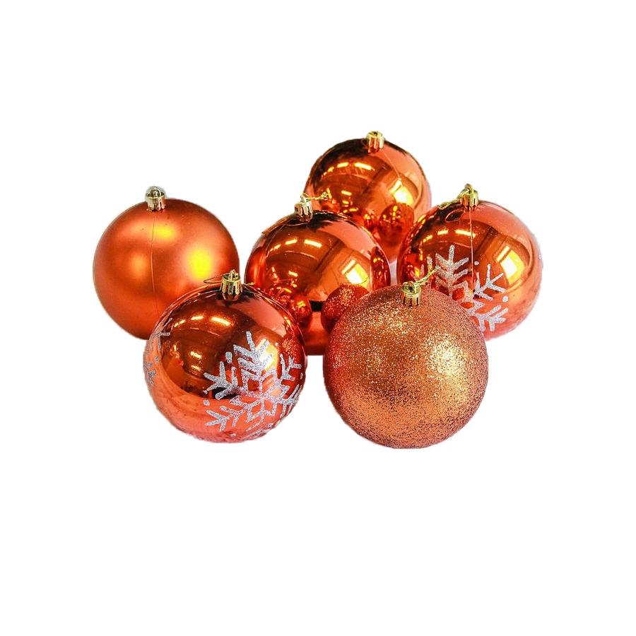 Украшение СИМА-ЛЕНД Набор шаров Снежинка капель 6шт Orange 2178444