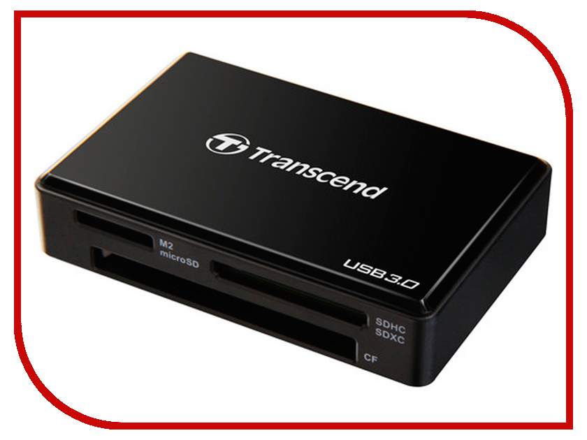 Карт-ридер Transcend Multy Card Reader USB 3.0 TS-RDF8K Black transcend multi card p8 usb 2 0 white