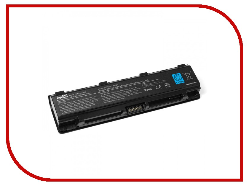 Аккумулятор TopON TOP-PA5109U 10.8V 4400mAh для Toshiba C40/C45/C50 / Satellite C50T/C70/Pro C70/C75 Series h000062020 main board for toshiba satellite c50 c55 15 6 screen laptop motherboard gt710m ddr3