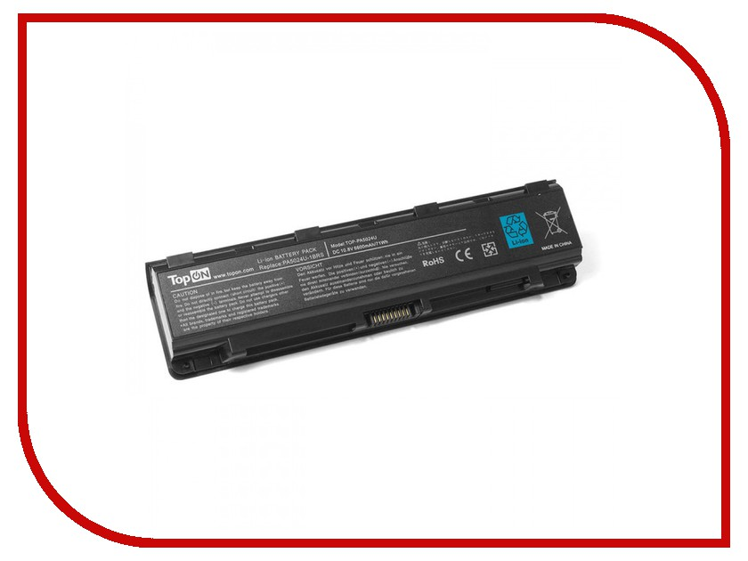 Аккумулятор TopON TOP-PA5024U 10.8V 6600mAh для Toshiba Satellite C800/L800/M800/P800/S840 Series аккумулятор topon top k53 для 10 8v 4400mah pn a32 k53 a42 k53 a43ei241sv sl