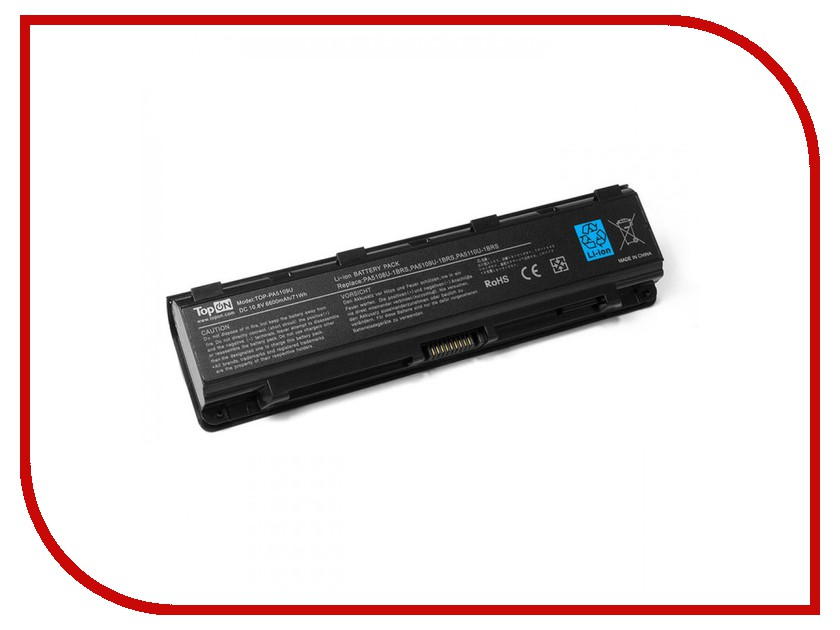 Аккумулятор TopON TOP-PA5195U 14.8V 2200mAh для Toshiba Satellite C55 Series аккумулятор topon top k53 для 10 8v 4400mah pn a32 k53 a42 k53 a43ei241sv sl