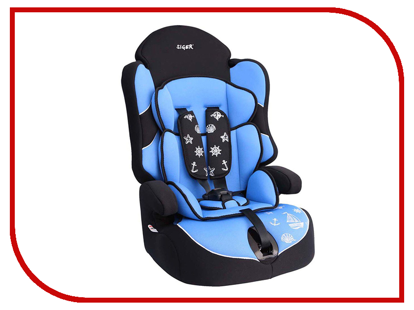 Автокресло группа 1/2/3 (9-36 кг) Siger Драйв Light Blue автокресло kiddy guardianfix 3 группа 1 2 3 mountain blue