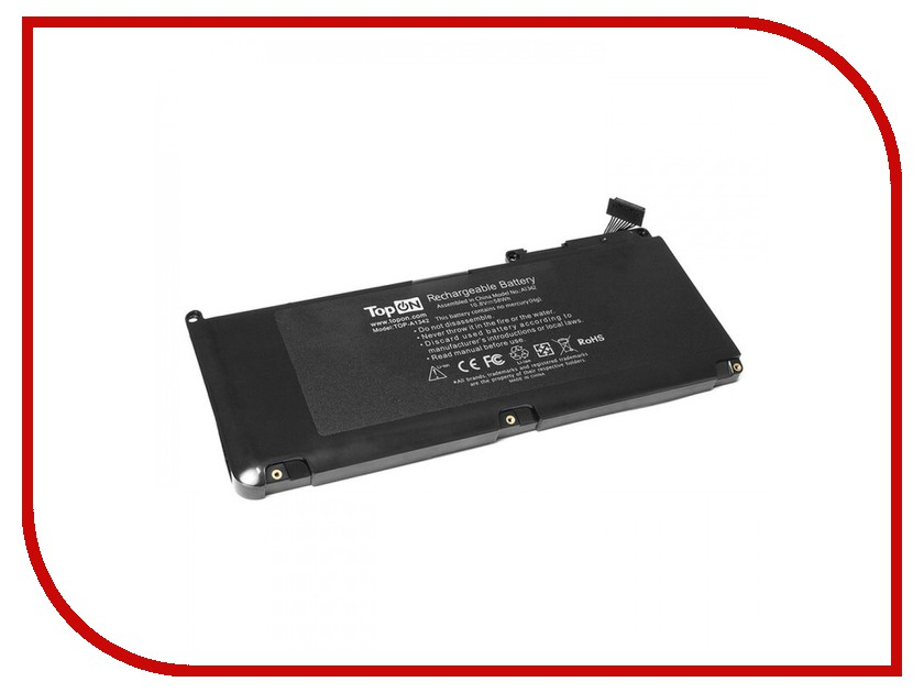 Аксессуар Аккумулятор TopON TOP-A1342 10.8V 5350mAh для APPLE MacBook 13 A1331 Series