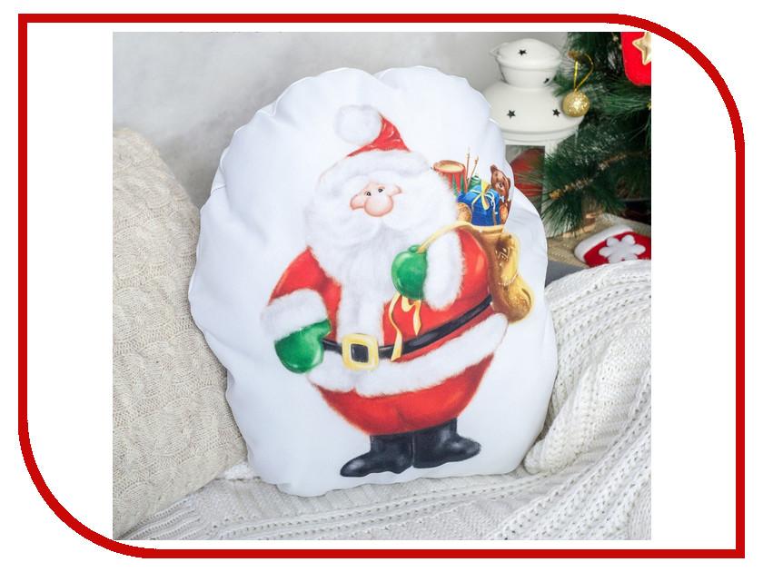 Игрушка антистресс Этель Подушка декоративная Дед Мороз 38х41 2498809 мягкие игрушки а м дизайн светодиодная игрушка дед мороз