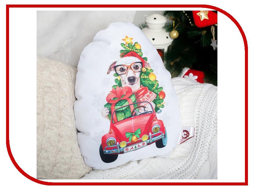 Игрушка антистресс Этель Подушка декоративная Собака с подарками 34х42 2498804