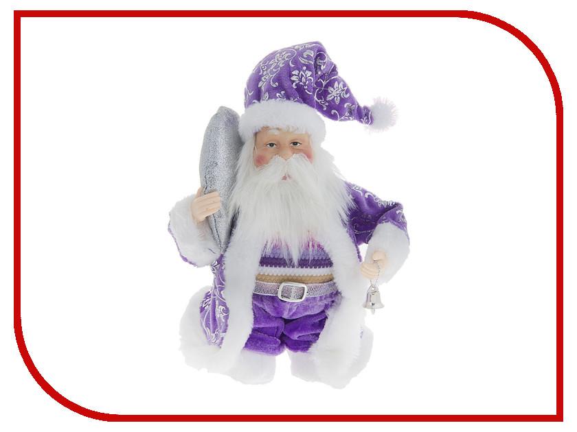 Игрушка СИМА-ЛЕНД Дед Мороз с колокольчиком в сиреневой шубе 1010410 стоимость
