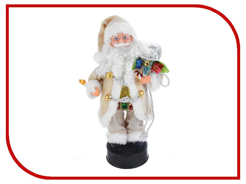 Игрушка СИМА-ЛЕНД Дед Мороз с подарками и свечой серая шубка 2363978 салфетница сима ленд хрюша и дед мороз 3789374