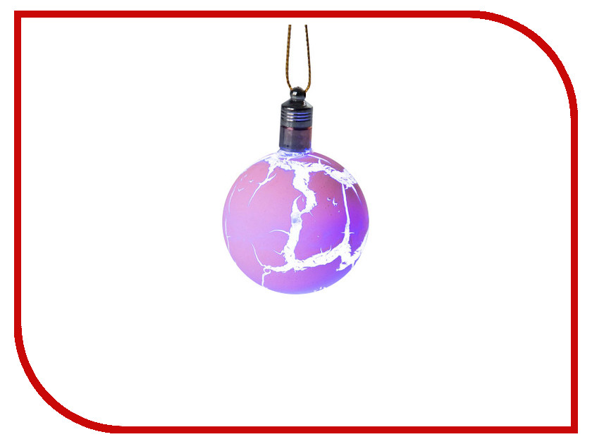 Украшение Luazon Елочный шар узоры краской RGB Pink 2361544 украшение luazon ангел silver 1077322