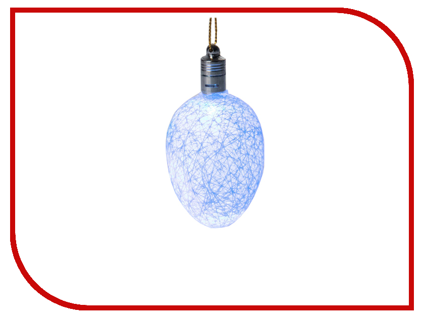 Украшение Luazon Шишка на елку RGB White 2361533 украшение luazon снежинка blue 2314974