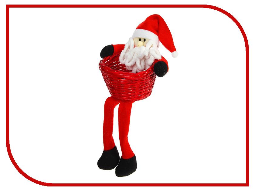 Новогодний сувенир СИМА-ЛЕНД Конфетница Дед Мороз длинные ножки 1308750